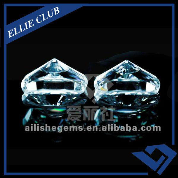 white amazing perfect cut CZ stone jewelry