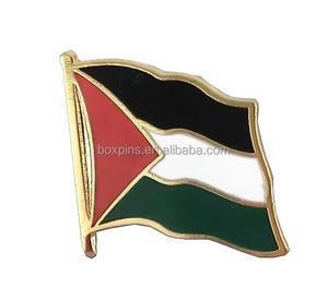 Cheap custom enamel palestine flag lapel pin badge wholesale