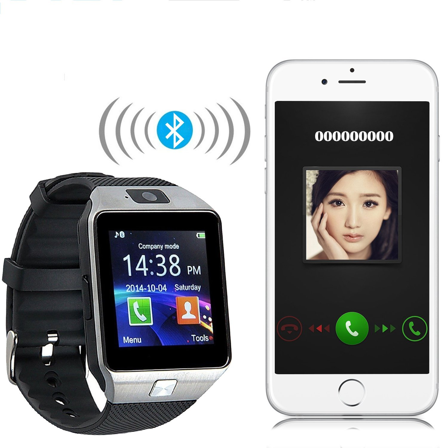 Fitness Tracker Support SIM TF Card Smartwatch Phone DZ09 Bluetooth Smart Watch With Camera Pedometer
