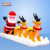 20ft inflatable santa's christmas sled/inflatable claus's christmas sled