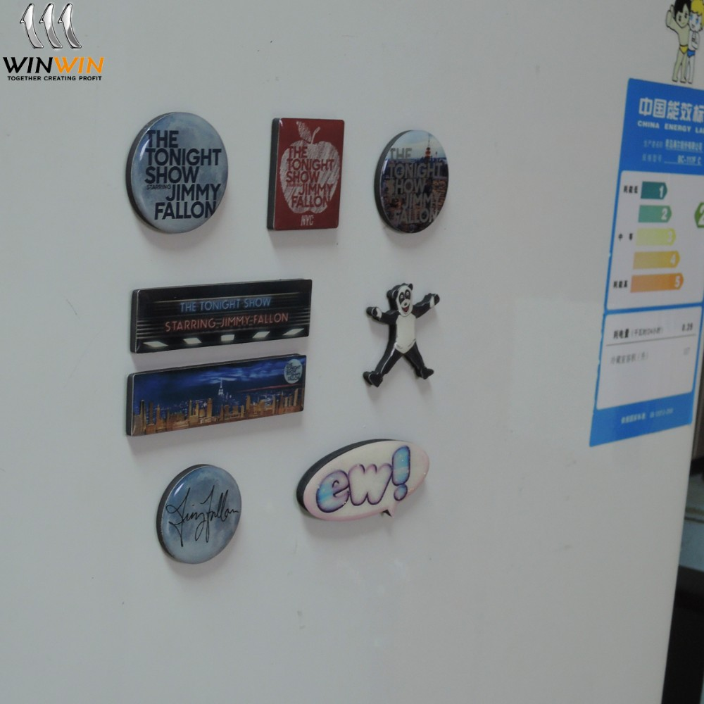 Factory wholesale high quality custom metal souvenir fridge magnet for fridge