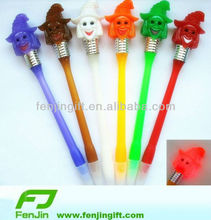 promotional sorceress witch ball pen witch light up pen