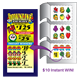 Custom pull tab lottery ticket peel off scratch card and lottery ticket