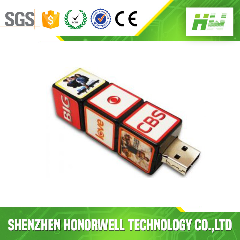 Hot sale new style Long rectangular cube shape U disk USB flash drive 8g16g custom logo bulk cheap