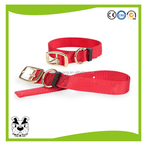 high quality nylon pet dog collar matching leash harness available