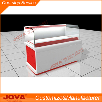 Customized Modern Shop Counter Designglass And Mdf Shop Counter