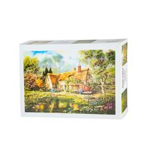 Best selling 500 pcs house printing custom photos children puzzle for kids game