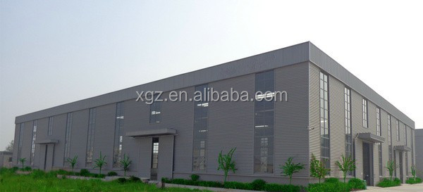 easy assembly steel frame prefabricated light steel structure milk plant