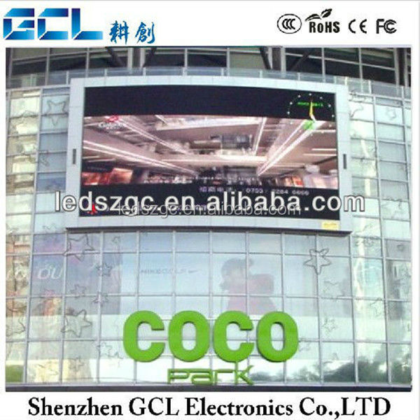 Outdoor media facade led display /led grid screen on glass bulding P16 or P25 or P31.25