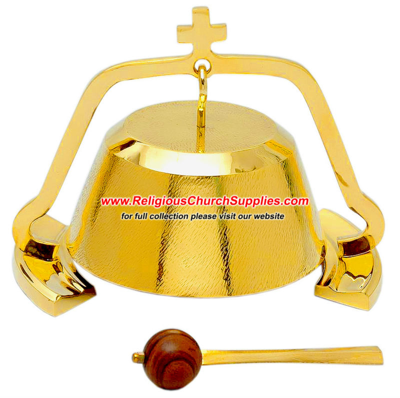 Brass Gong With Wood Hammer