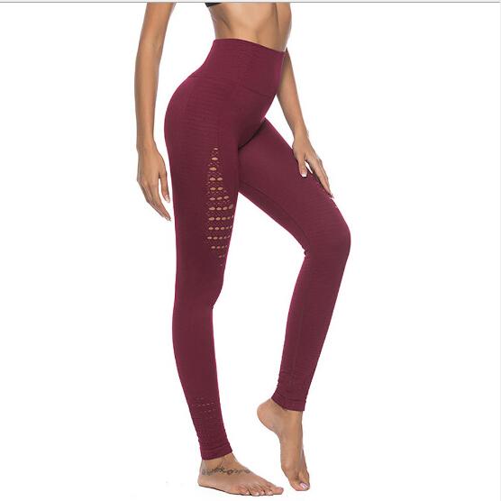 74c2142d8e Das mulheres de Cintura Alta Leggings Emagrecimento Calças Sem Costura  Ajuste de Compressão de Energia Ativa