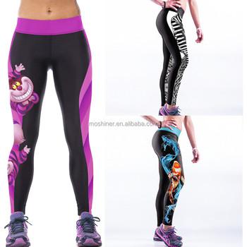 a4d445615f79b OEM Design Women Sports Wear Digital Printed Sexy Yoga Leggings Badminton  Sportswear