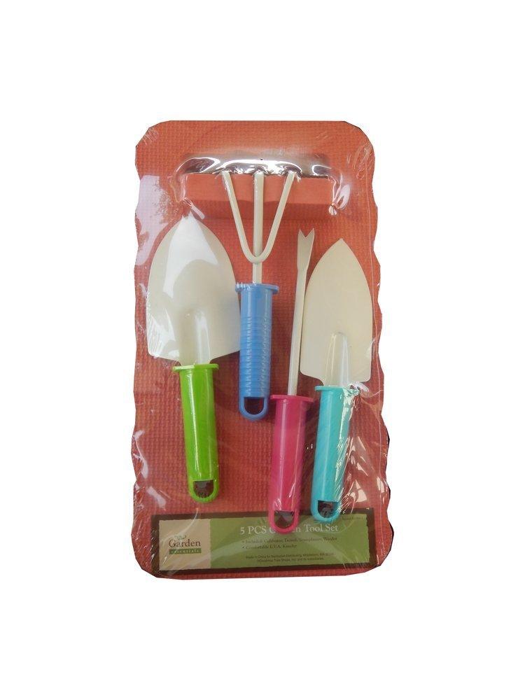 Get Quotations · 5 Piece Garden Hand Tool Set Includes Trowel, Cultivator,  Weeder, Transplanter U0026 Kneeling