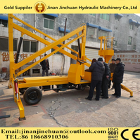 Crane Mobile 4 Wheel One Man Aerial Service / Construction Hydraulic Telescopic / Articulated Boom lift