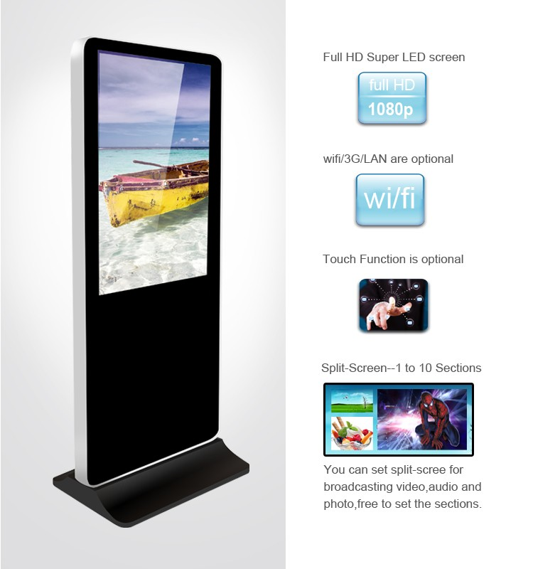 55 Inch Lcd Monitor Usb Media Player For Advertising Transparent ...