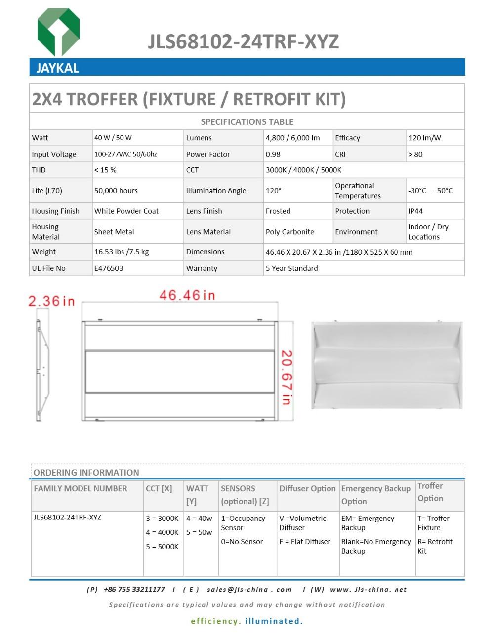 Alibaba Express Ul Dlc 117lm / W 40w Troffer Light Led Troffer 2x4 ...