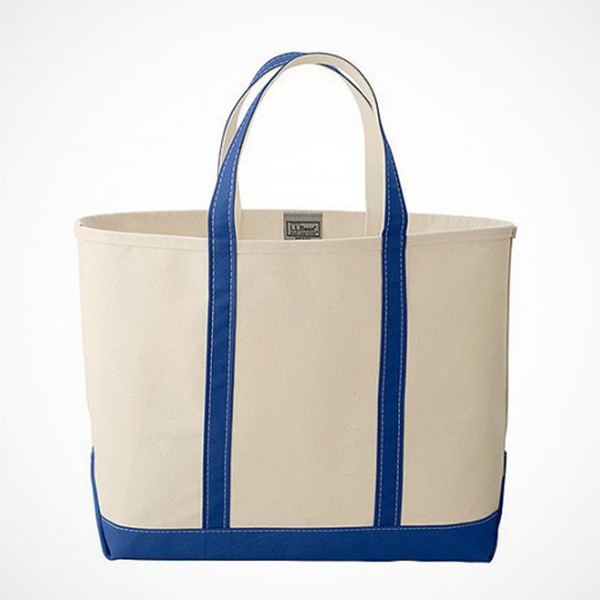 Factory good quality canvas bag with leather trim