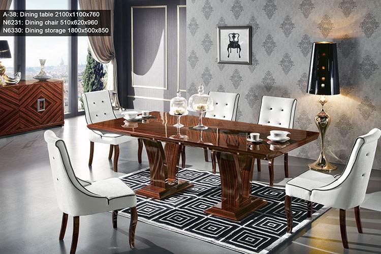 Ebony Modern Dining Set Classic Italian Room Sets New Style Table