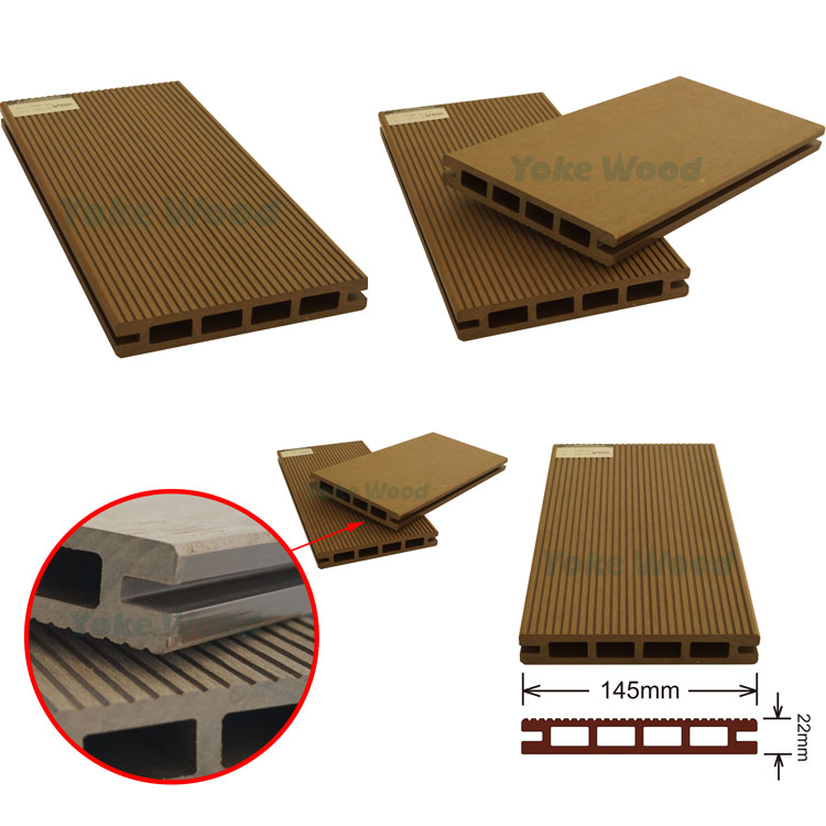 Deking Wood Plastic Composit Swimming Pool Plastic Edge