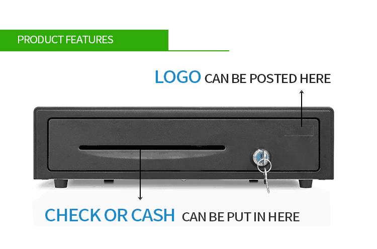 Heavy Duty Metal Sliding Cash Drawer with RJ11 Port