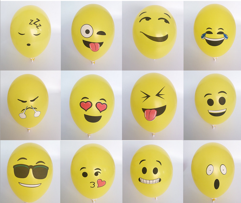 12 inch 2.8g cheap price promotion emoji smiley face balloons adversiting balloons