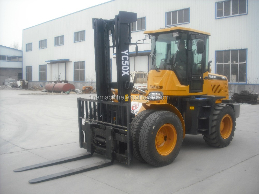 4X4 5ton all rough terrain forklift for sale