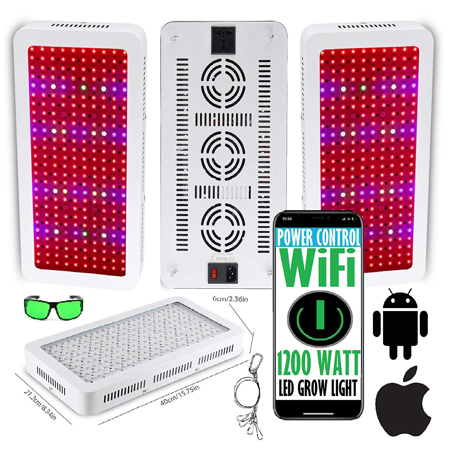 Cultivation Rx WiFi Bestva 1800W LED Grow Light Panel for Indoor Grow Hydroponic Cultivation (2019)