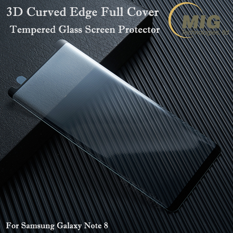 Small type For Samsung galaxy S8 Full Cover Case Version 3D Curved edge Temepred Glass Film screen protector for Samsung Note 8