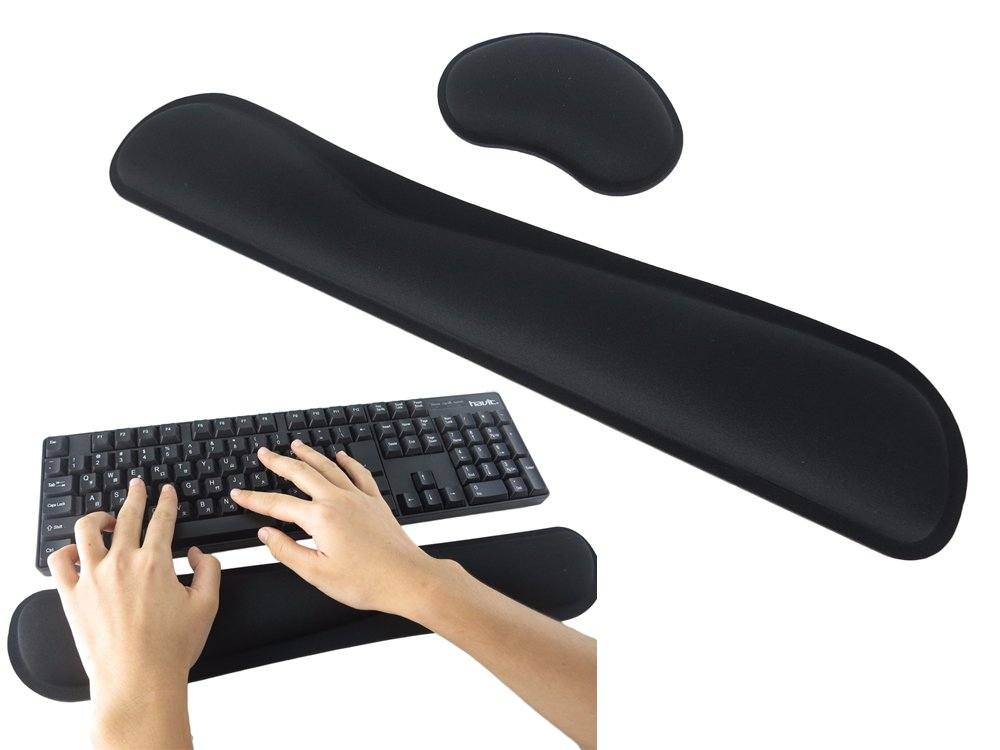 Keyboard Wrist Rest Pad and Mouse Gel Wrist Rest Support Cushion with Memory Foam for Computer and Laptop (US0019)