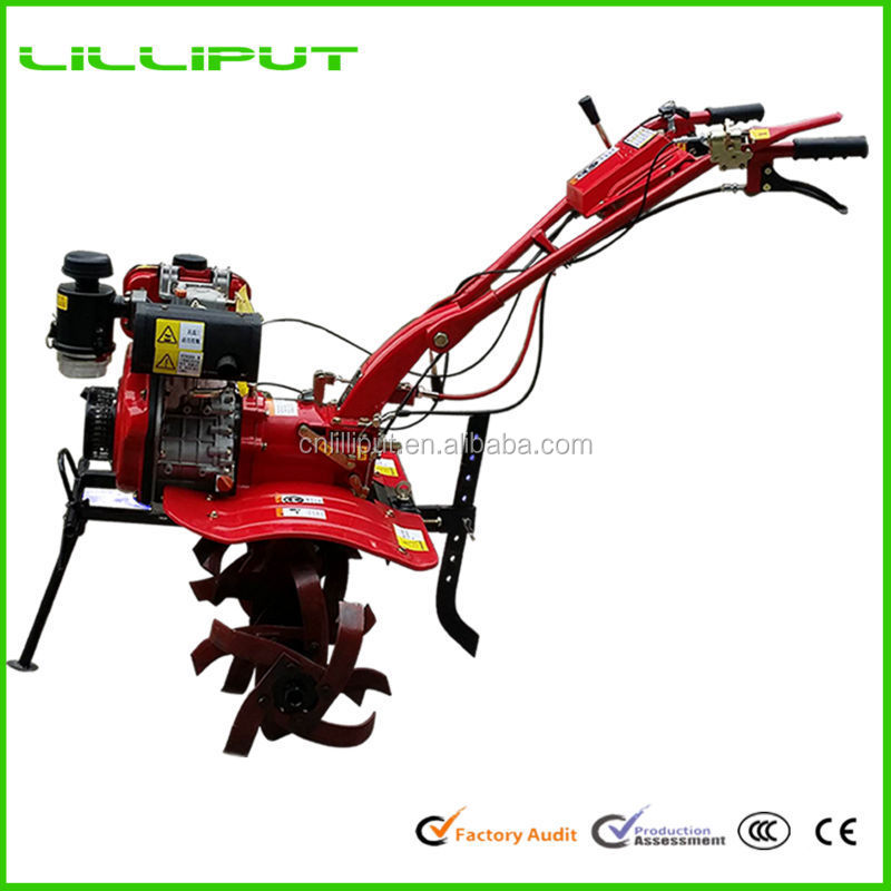 Hot Selling Diesel Two Wheel Chinese House Cultivator For Greenhouse Tillage