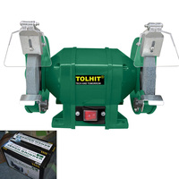 "TOLHIT Power Tools 220-240v 8"" 200mm 500w Industrial Heavy Duty Bench Surface Grinding Machine Electric Pedestal Grinder"