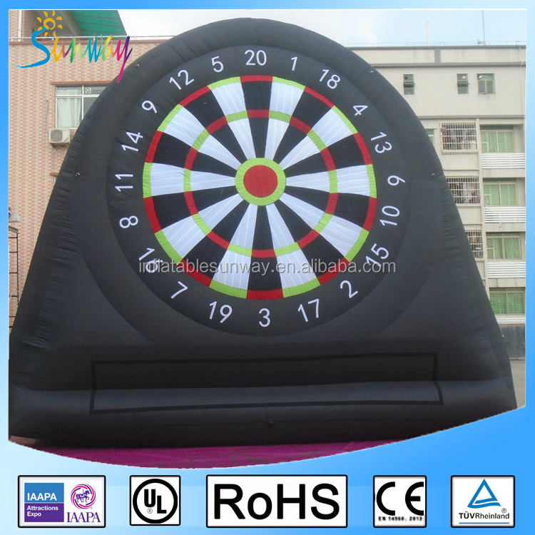 Hot Inflatable Soccer Foot Dart Game Inflatable Dart Board for Sale