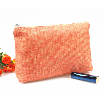 Jute Clutch Bag Travel Makeup Cosmetic Pouch Toiletry Bag Organizer
