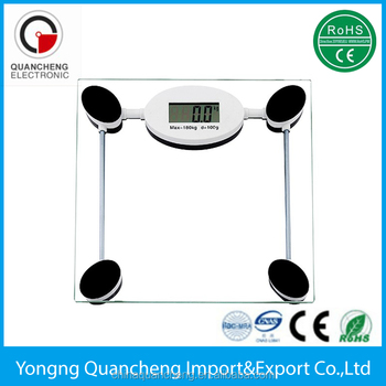 5mm Tempered Gl High Precision Digital Bathroom Scales Mechanical Scale