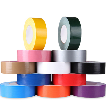 High quality air conditioner duct tape white color best price colorful black sliver white duct carpet cloth tape