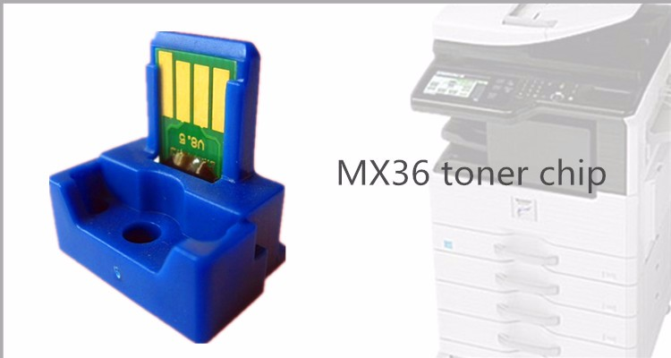 New mx2640 mx3640 mx3140 toner cartridge MX36 chip for sharp