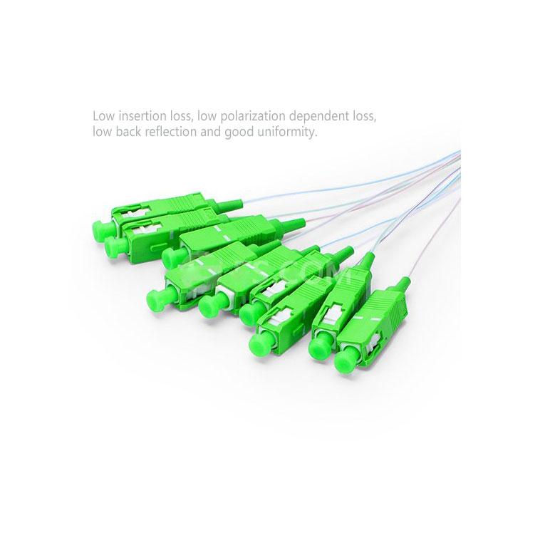 accept custom design huawei plc splitter 900um steel tube type mini size 1 8 16 32 64 128 fiber optic splitter