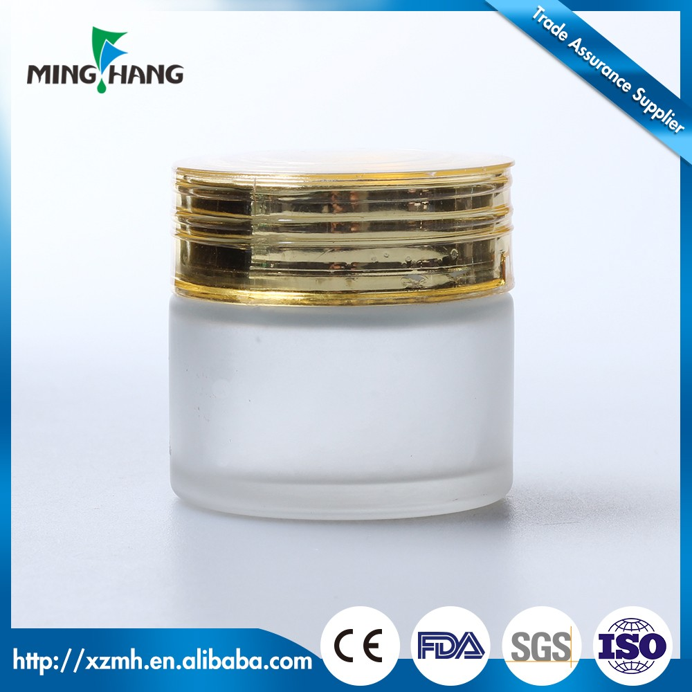 30 50ml custom made glass cosmetic jars manufacturer with for Custom cosmetic jars