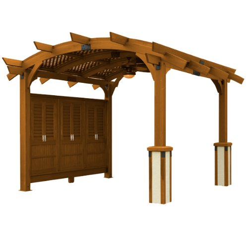 Get Quotations · Sonoma Arched Wood Pergola 12x13 Redwood - Cheap Wood Pergola Kits, Find Wood Pergola Kits Deals On Line At