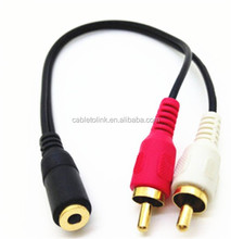 1c6ae3210 Aux Mini Plugue RCA Macho para 3.5mm Fêmea Adaptador de Áudio Estéreo