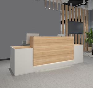 High Quality Simple Design Standard Size Reception Table Hotel Company Wooden Reception Desk