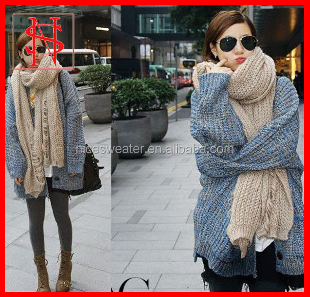 2014 heavy sweater cardigan latest design woolen women casual winter clothing