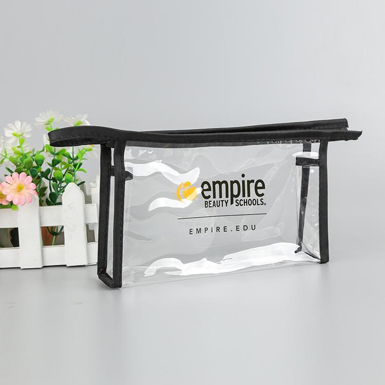 Newest sale resealable zipper pouch pvc zipper eva bag