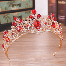 <span class=keywords><strong>Strass</strong></span> barocco Royal Queen <span class=keywords><strong>Corona</strong></span> <span class=keywords><strong>di</strong></span> Alta-end Pageant Rubino <span class=keywords><strong>Corona</strong></span>