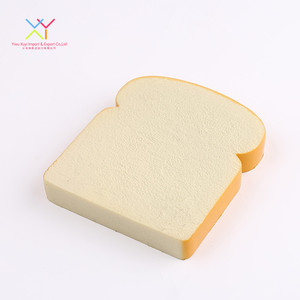 Factory Wholesale PU Cute Slice Of Bread Shape Food Stress Balls