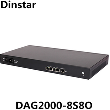 Ethernet 4 RJ-10/100Base-Tx Dinstar <span class=keywords><strong>VoIP</strong></span> Gateway Misti DAG2000-8S8O Connettersi a 8 Telefoni Analogici e 8 Linee PSTN