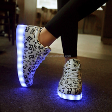 2017 multicolor glowing fashion adult women and men simulation led shoes