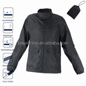 Windbreaker MEN Lightweight Waterproof Jacket with hood and bag