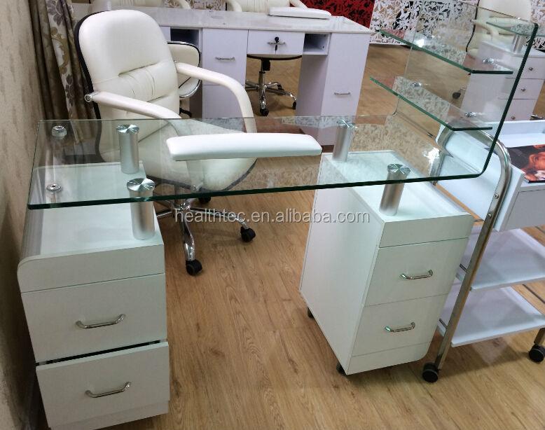 Glass Table Nail Salon Furniture Manicure Buy