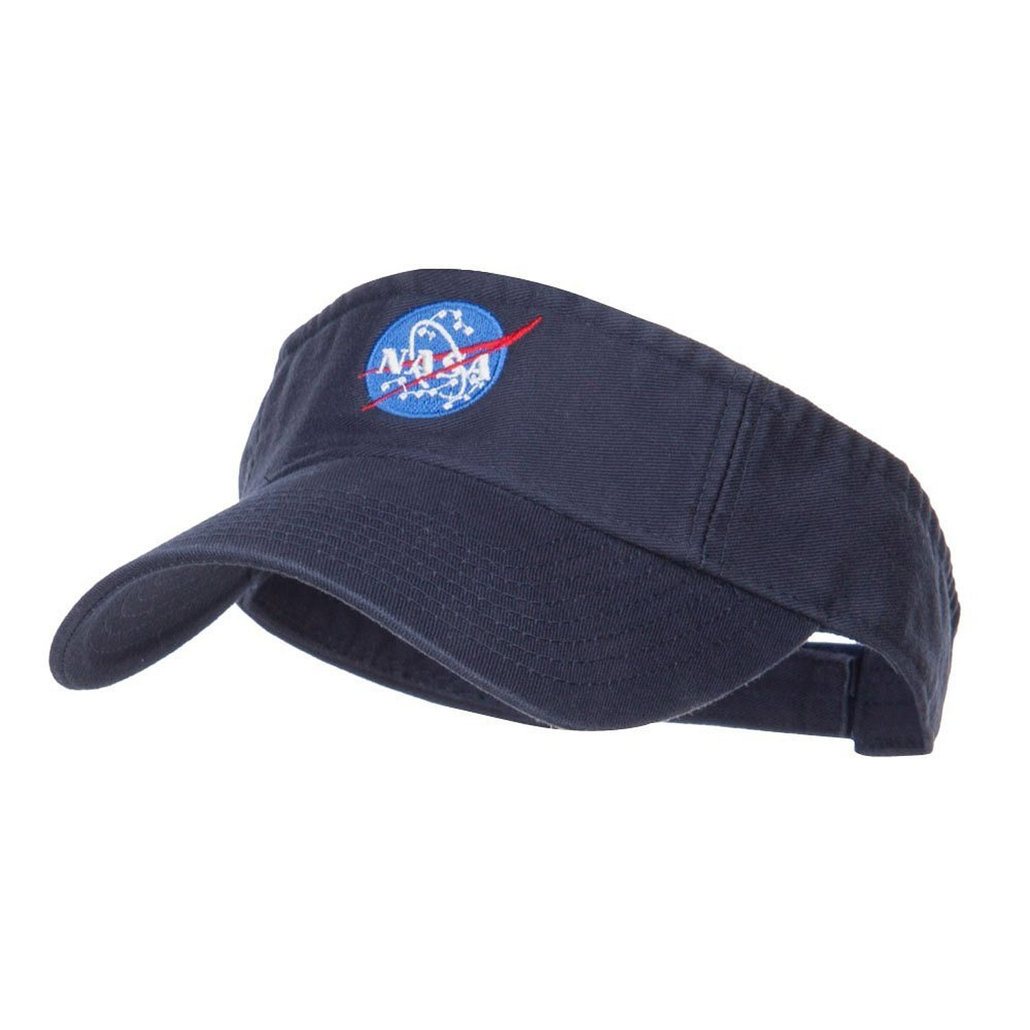 Get Quotations · NASA Insignia Embroidered Cotton Washed Visor